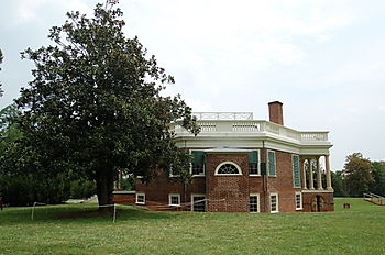 TJ's Poplar Forest House-side view of octagonal design